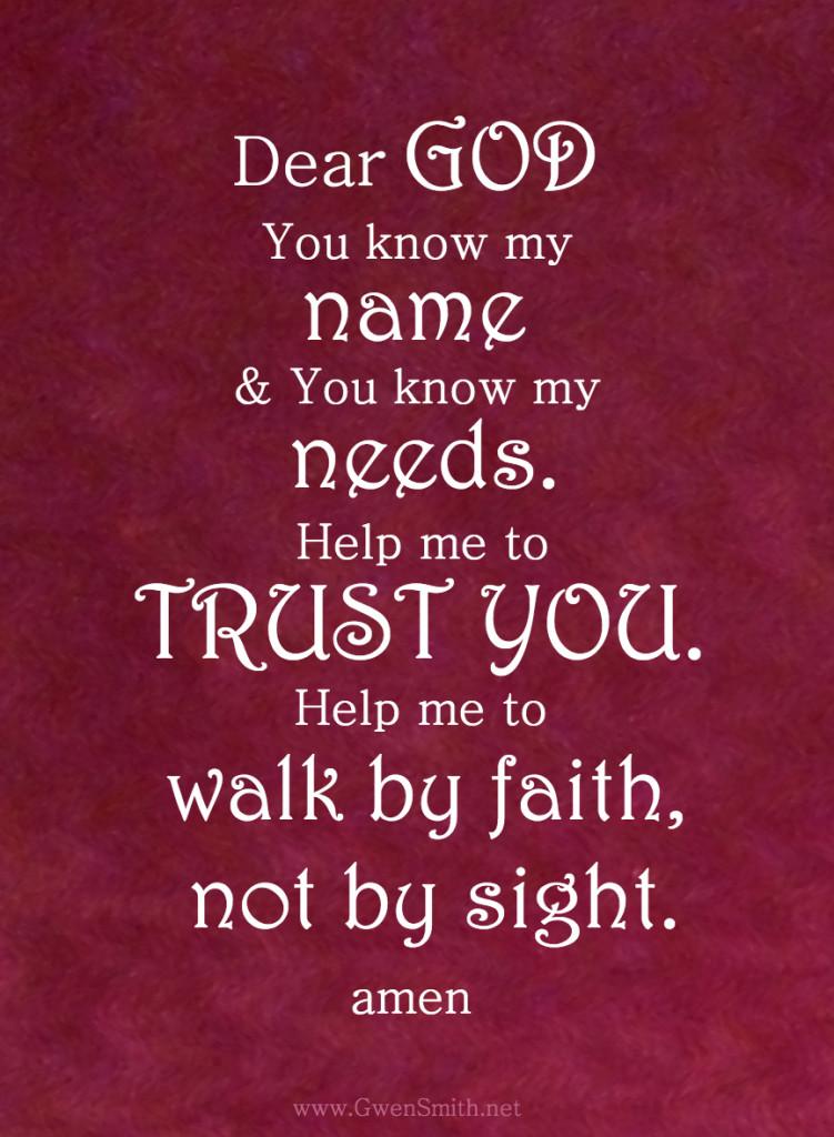Trust prayer