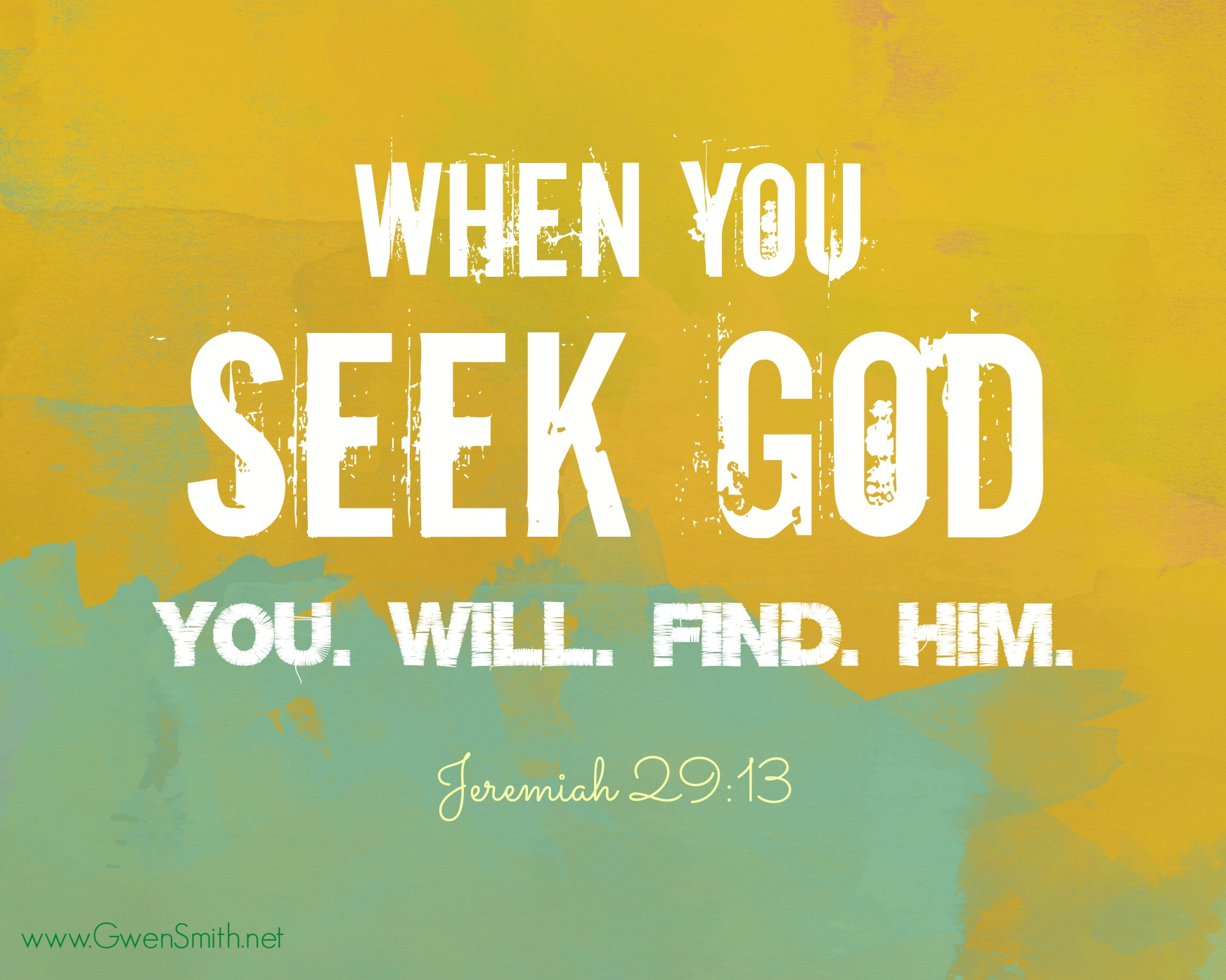 Seek God Jer 29.13