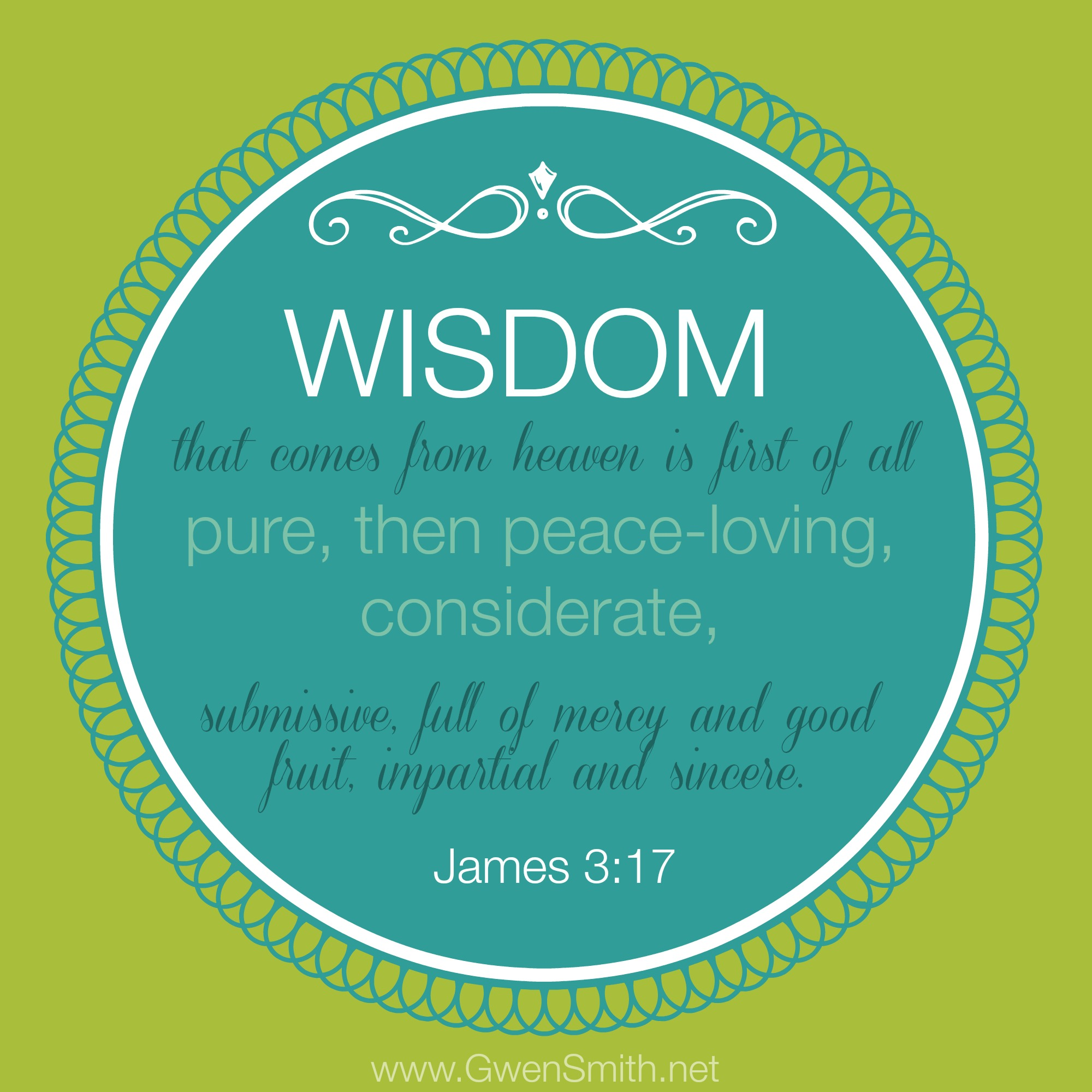 james 3.17 wisdom