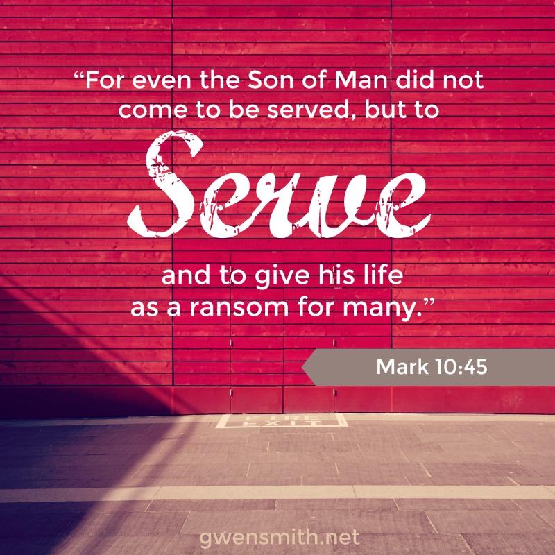 Mark 10.45 serve